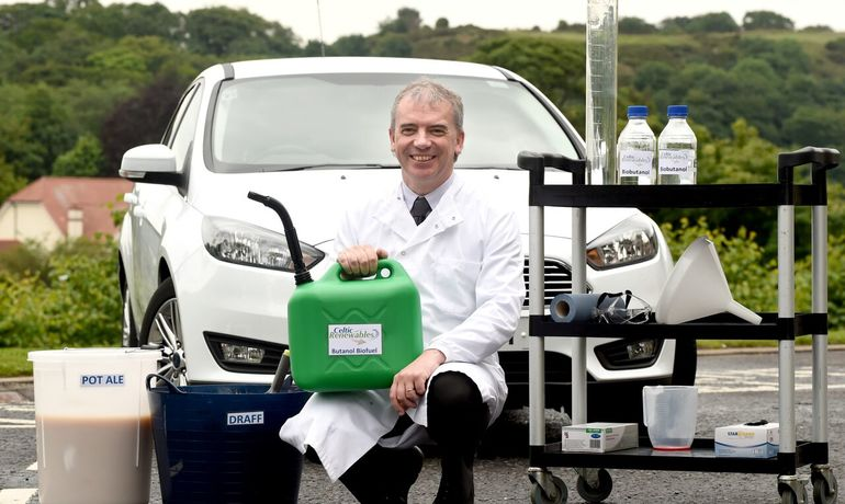 World's first car to be fuelled by whisky residue biofuel takes its inaugural journey