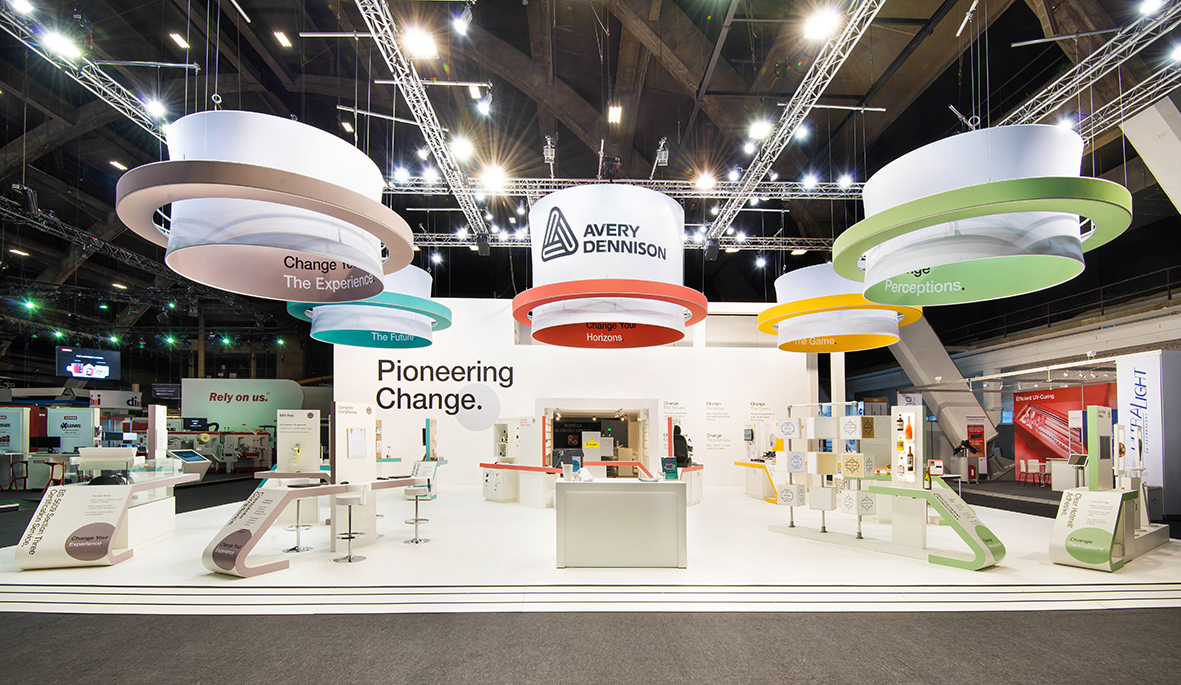 Avery Dennison pioneers first-of-its kind Labelexpo booth made from label waste