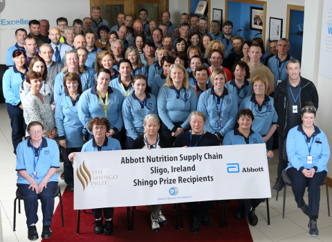 Abbott's Nutrition Supply Chain Facility in Sligo, Ireland Receives Shingo Prize for Operational Excellence