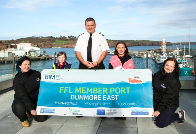 Dunmore East Fishermen tackle marine litter through EU recognised 'Fishing for Litter' Proggramme