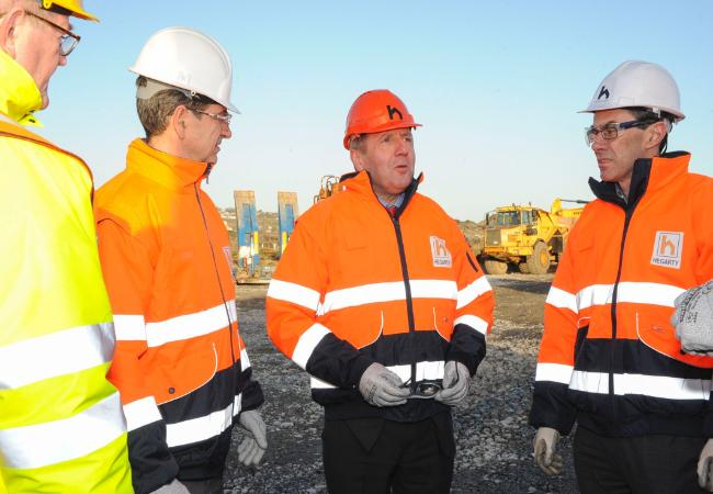 Creed Inspects Remediation Works on Haulbowline Island in Cork Harbour